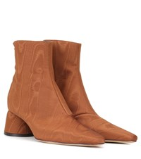 Ellery Exclusive To Mytheresa.Com Moire Ankle Boots Brown