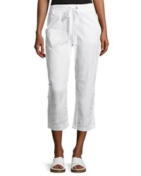Xcvi Ariana Lace Inset Crop Pants White
