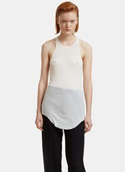 Rick Owens Ribbed Knit Tank Top White