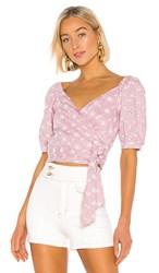 Astr The Label Dina Top In Pink. Orchid And White