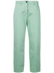 Department 5 Slim Fit Cropped Trousers Green
