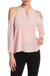 Amanda Uprichard Jasmine Cold Shoulder Blouse Pink