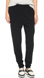 James Perse Crepe Slouchy Pants Black