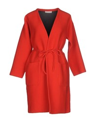 Stefanel Coats And Jackets Full Length Jackets Women Red