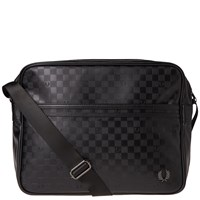 Fred Perry Checkerboard Shoulder Bag Black