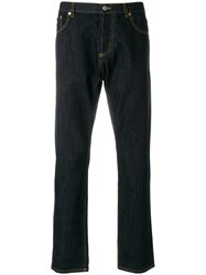 Maison Kitsune Regular Jeans Blue