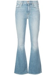 Mother The Weekender Flared Jeans Blue