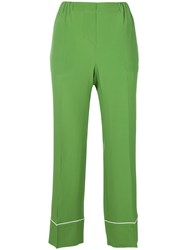 N 21 No21 Cropped Pyjama Style Trousers Green