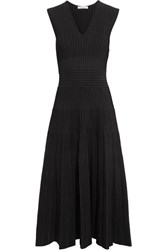 Barbara Casasola Paneled Stretch Knit Dress Black