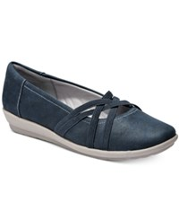 Easy Spirit Aubree Flats Women's Shoes Navy