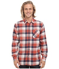 Rip Curl Monument Long Sleeve Flannel Cinnabar Men's Clothing Red