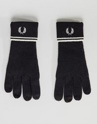 Fred Perry Twin Tipped Lambswool Gloves Black