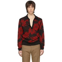 Dries Van Noten Black And Red Jerome Polo