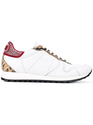 Roberto Cavalli Snakeskin Effect Trainers Men Calf Leather Leather Rubber 43 White