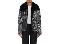 Altuzarra Women's Kazan Shearling And Tech Twill Coat Black