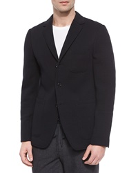 Vince Three Button Knit Blazer Black