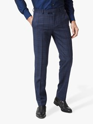 Richard James Mayfair Prince Of Wales Check Tailored Suit Trousers Navy