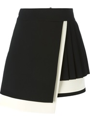Fausto Puglisi Wrap A Line Skirt Black