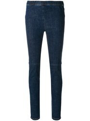 Sonia Rykiel Denim Leggings Blue