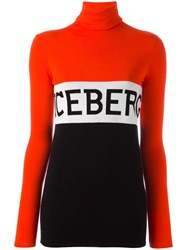Iceberg Logo Jumper Red