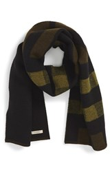 Men's Burberry Half Mega Check Wool And Cashmere Blanket Scarf
