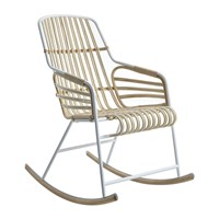 Horm And Casamania Raphia Rocking Chair White