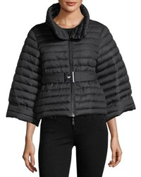 Emporio Armani Cyber Underwater Reversible Quilted Cropped Puffer Jacket Multi Pattern