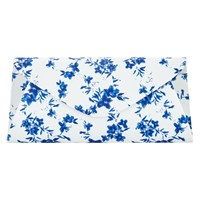 Phase Eight Flower Print Clutch Bag White Blue