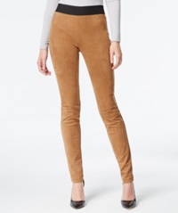 Inc International Concepts Petite Faux Suede Pull On Skinny Pants Bronzed Camel