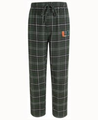 Concepts Sport Men's Miami Hurricanes Ultimate Flannel Sleep Pants Green