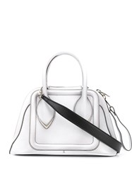 Alexander Mcqueen Structured Top Handle White