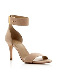 Michael Kors Ames Ankle Strap High Heel Sandals Nude