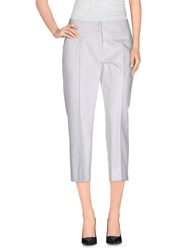 Trussardi Trousers 3 4 Length Trousers Women White