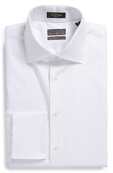 Calibrate Men's Big And Tall Trim Fit Non Iron French Cuff Dress Shirt White