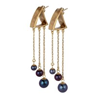 Chandally Piova Earrings 18K Vermeil And Peacock Pearls