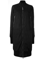 Isaac Sellam Experience Longer Bomber Jacket Black