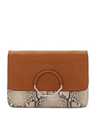 Louise Et Cie Maree Leather Convertible Clutch Brown