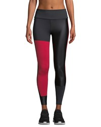 Alala Patchwork Colorblock Performance Tights Black Red