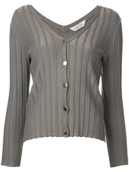 Torrazzo Donna Ribbed V Neck Cardigan Women Rayon One Size Brown