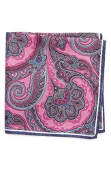 Nordstrom Men's Men's Shop Paisley Silk Pocket Square Pink