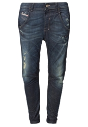 Diesel Fayza Relaxed Fit Jeans 0821T Destroyed Denim