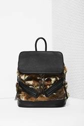Nasty Gal One Faux Fur The Road Backpack