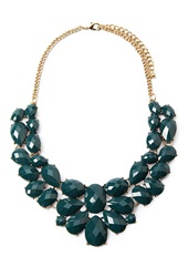 Forever 21 Faux Gemstone Statement Necklace Teal Antic.G