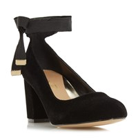 Head Over Heels Avandra Bow Tie Detail Court Shoes Black