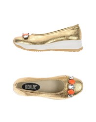 Ruco Line Footwear Courts Women Gold