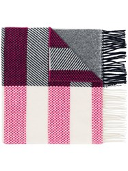 Paul Smith Ps By Dino Patch Striped Scarf White