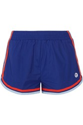 Tory Sport Striped Shell Shorts Storm Blue