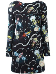 Love Moschino Space Print Dress