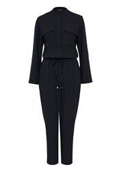 Hallhuber Jumpsuit With Chest Pockets Black