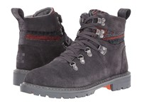 Toms Summit Boot Forged Iron Grey Suede Tribal Textile Women's Hiking Boots Brown